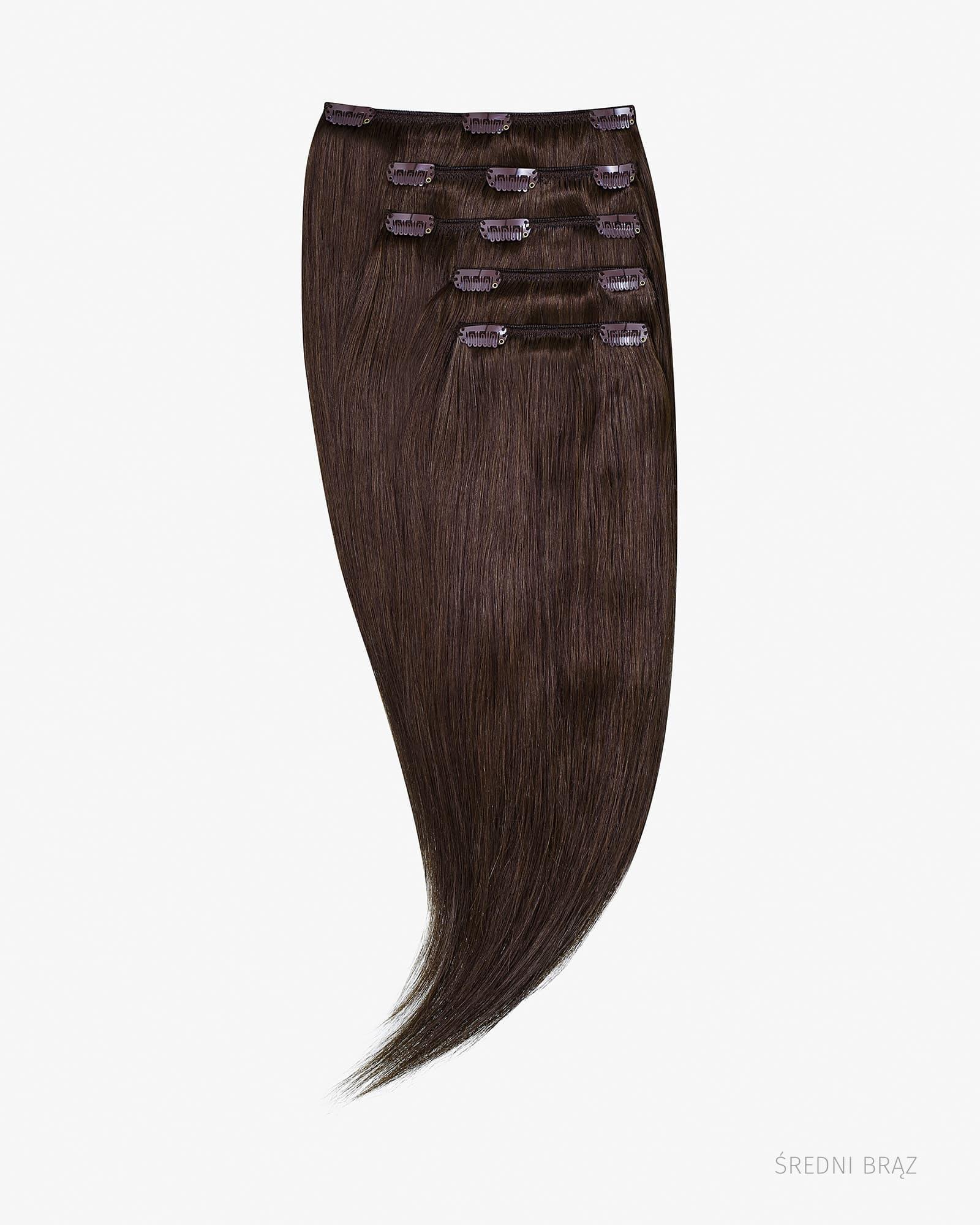 Naturalne włosy Clip In 60 cm 230g